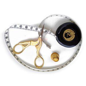 set-foarfec-broderie-golden-bird-centimetru-croitorie-degetar